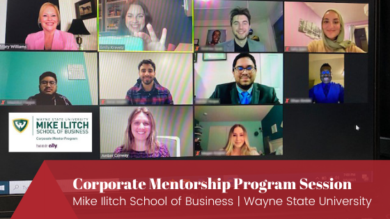 Zoom mike ilitch School of business wayne state thank you notes, self-doubt, confidence building, doing business on the golf course